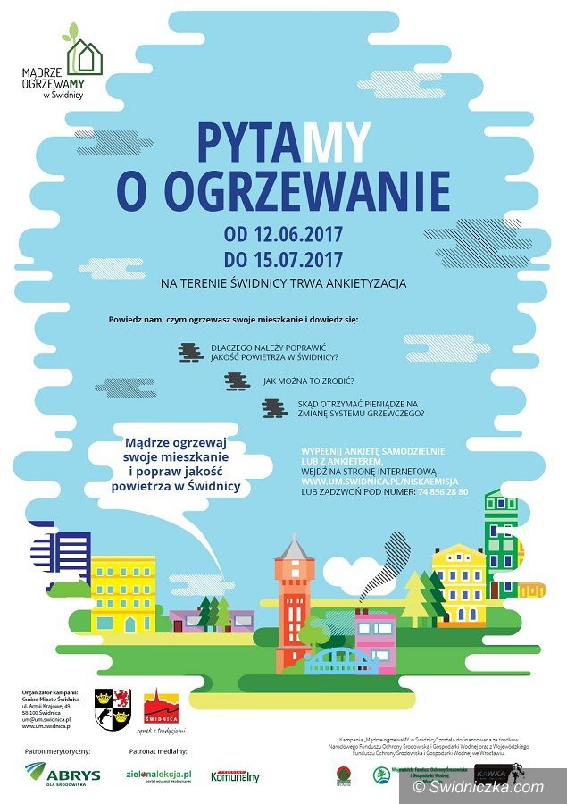 Świdnica: Rozpoczyna się inwentaryzacja źródeł ogrzewania w Świdnicy