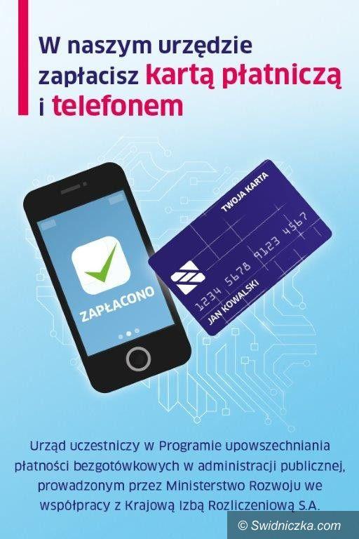 Strzegom: Zapłać kartą płatniczą i telefonem