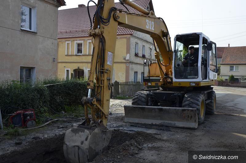 Łażany: Budowa kanalizacji w Łażanach na finiszu