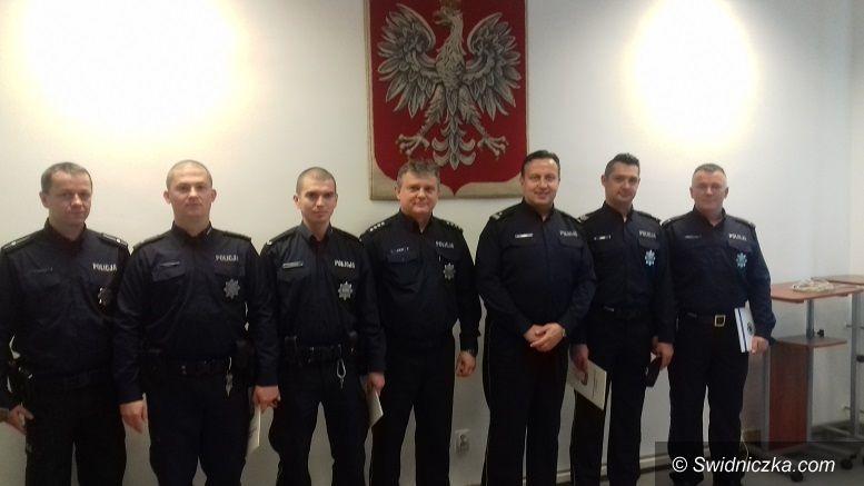 Świdnica/powiat świdnicki: Policjanci wyróżnieni przez Komendanta