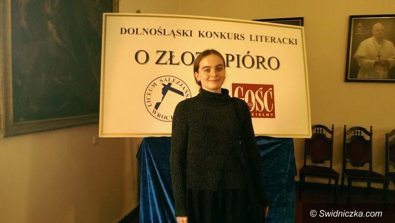 Strzegom: Sukces literacki uczennicy strzegomskiego LO