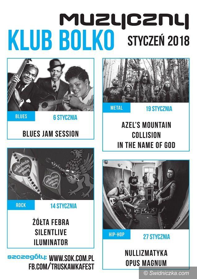 Świdnica: Styczeń w Klubie Bolko: blues, metal, rock i hip hop
