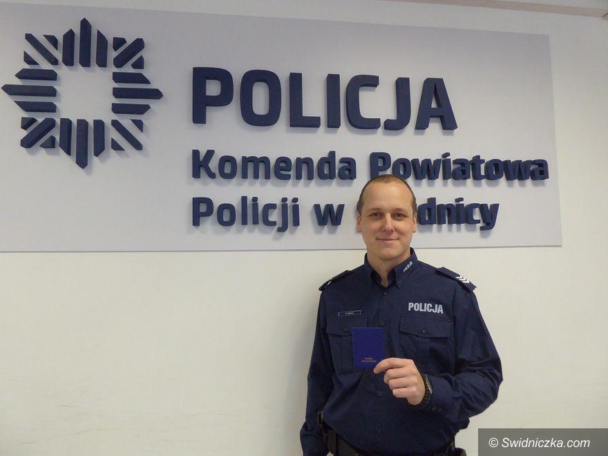 Świdnica: Policjant ze Świdnicy oddał szpik, który może uratować życie 24–letniej kobiecie