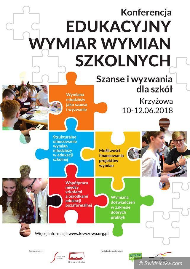 """Krzyżowa: Konferencja """"Edukacyjny wymiar wymian szkolnych – szanse i wyzwania dla szkół"""