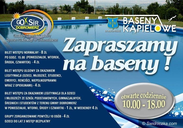 Dobromierz: Od jutra czynny basen w Dobromierzu