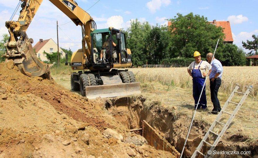 Gmina Dobromierz: Budowa kanalizacji w toku