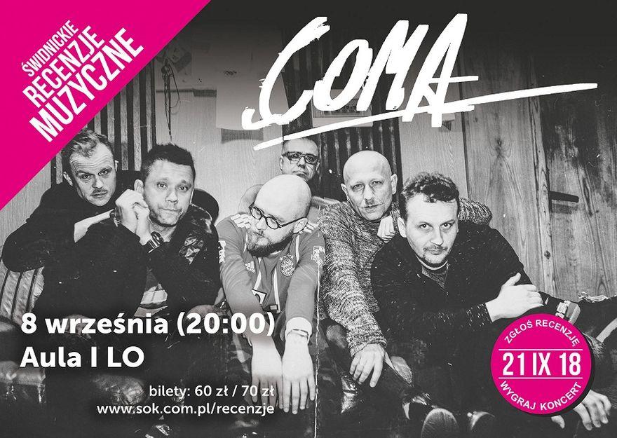 Świdnica: Coma zagra w Świdnicy. Pomóż wybrać kolejne koncerty i wygraj nagrody!