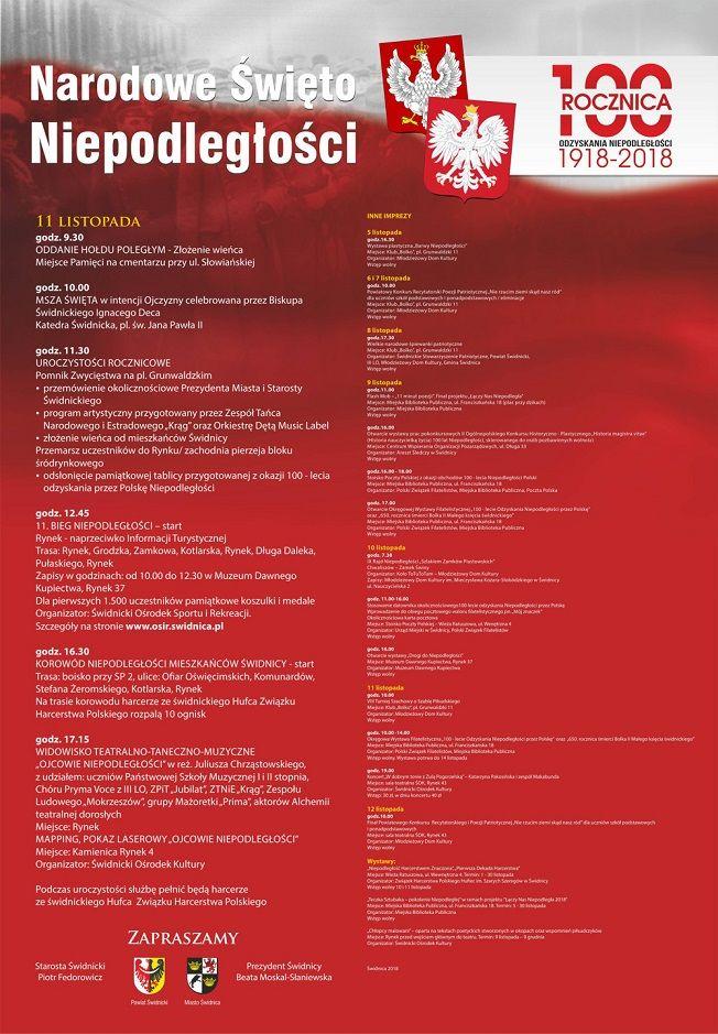 Świdnica: Narodowe Święto Niepodległości 11 listopada