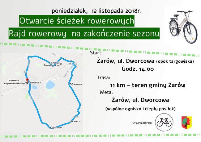 Żarów: Otwarcie ścieżek rowerowych i rajd rowerowy
