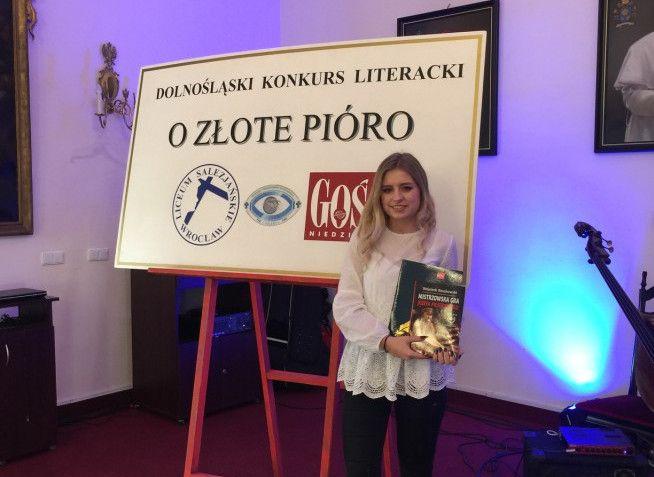 Strzegom: Strzegomska licealistka wyróżniona w Dolnośląskim Konkursie Literackim
