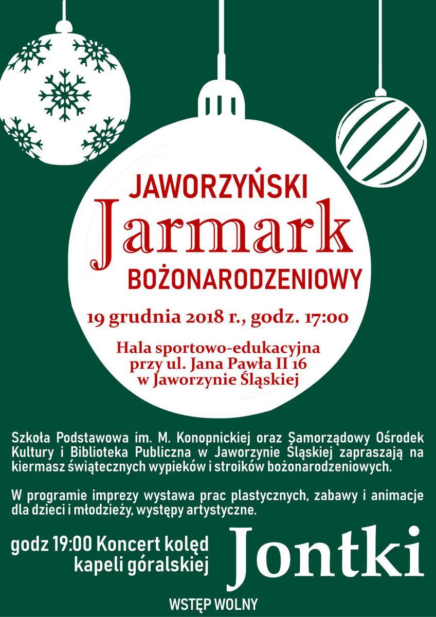 Jaworzyna Śląska: Zapraszamy na Jaworzyński Jarmark Bożonarodzeniowy
