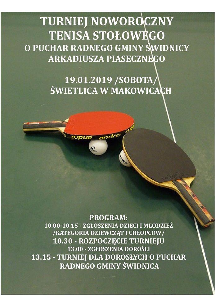 Makowice: Turniej tenisa stołowego odbędzie się w Makowicach