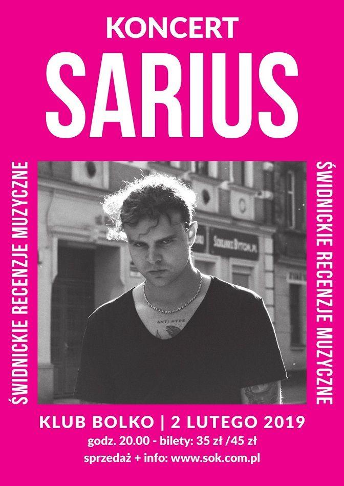 Świdnica: Kończą się bilety na koncert Sariusa! Hip–hop zapanuje w Klubie Bolko
