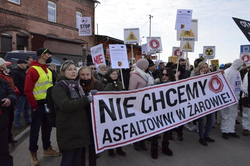 Żarów: Marsz protestacyjny