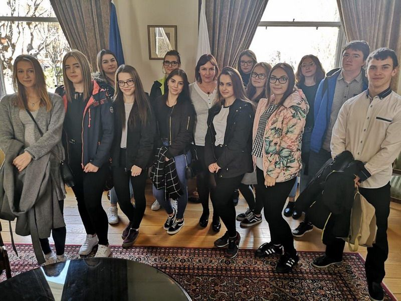 Strzegom: Technicy Zespołu Szkół w Strzegomiu z wizytą w Ambasadzie RP w Dublinie