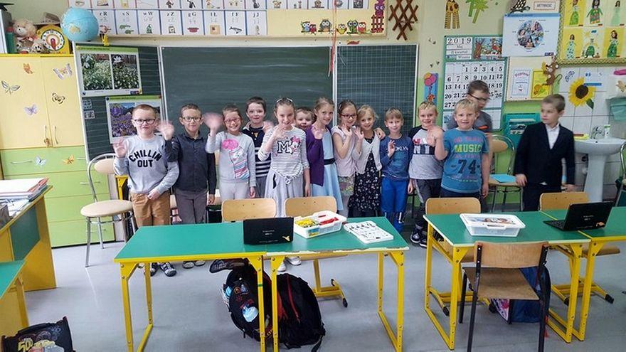 Lutomia Dolna: Aktywna tablica w szkole w Lutomi Dolnej