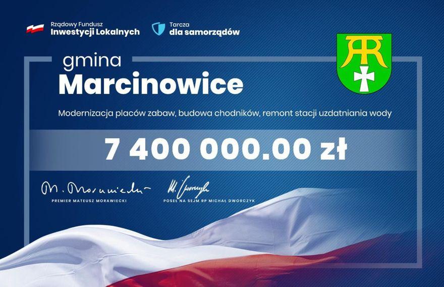 Gmina Marcinowice: Marcinowice z milionami