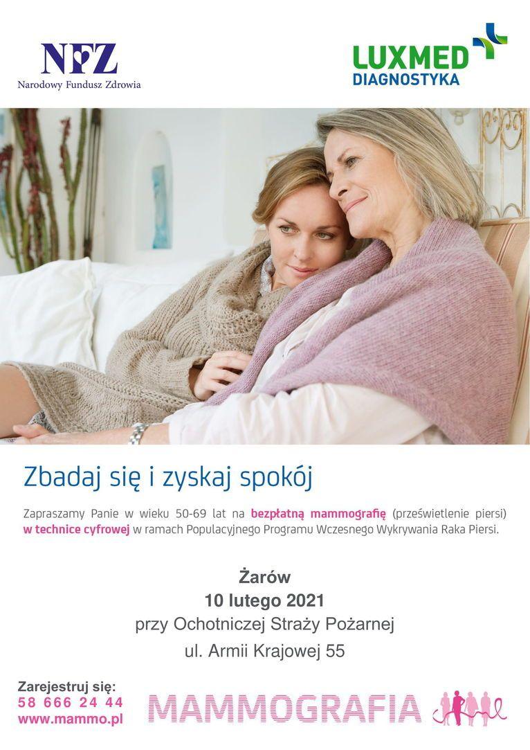 Żarów: Bezpłatna mammografia